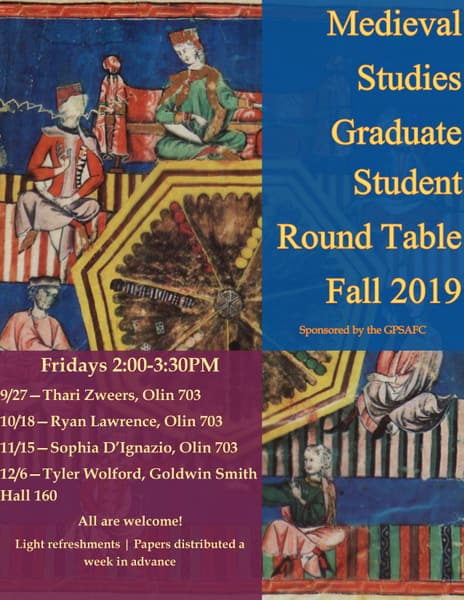 Medieval Studies Graduate Roundtable Fall Poster